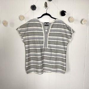 Lafayette 148 short sleeve blouse